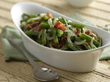Warm Green Beans with Bacon